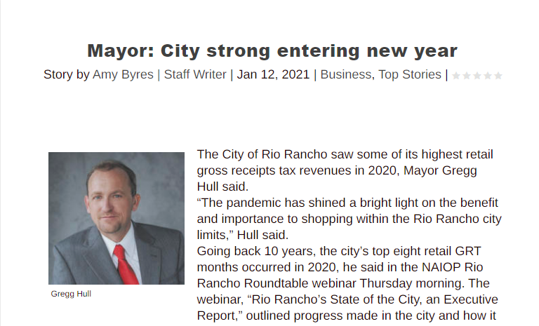 Mayor: City strong entering new year