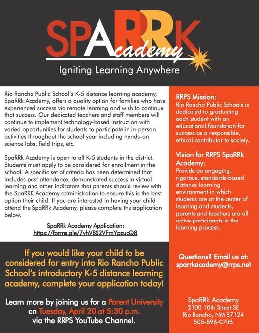 SpaRRk Academy Igniting Learning Anywhere