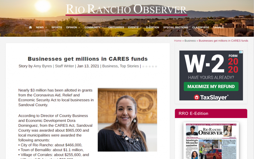 Businesses get million in CARES funds