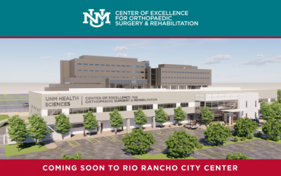 Coming Soon! UNM Center of Excellence for Orthopaedic Surgery & Rehabilitation